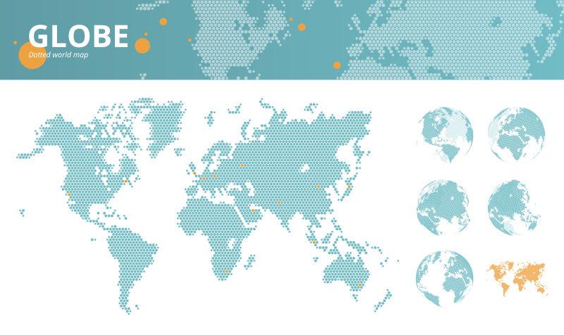 矢量商业点缀世界地图