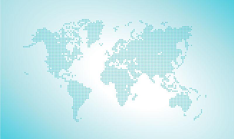 矢量矢量点缀世界地图
