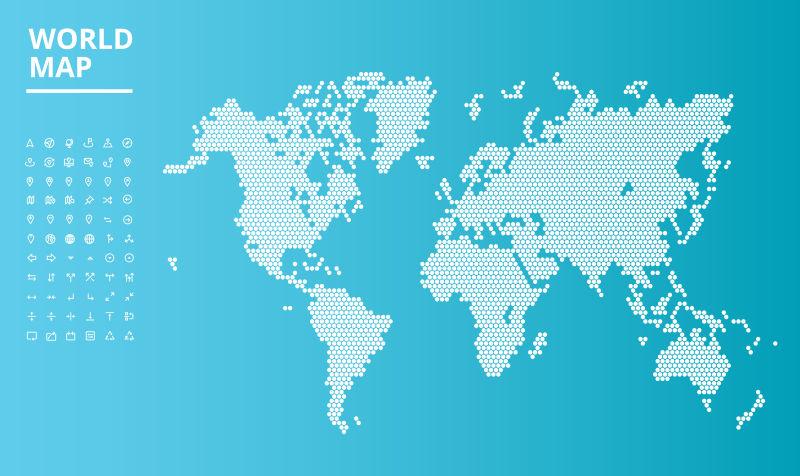 矢量点缀世界地图