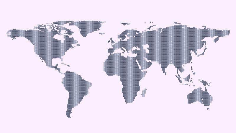 矢量灰色政治世界地图