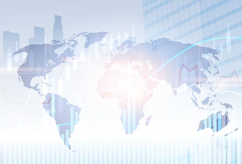 银行业务旗帜金融储蓄摘要剪影城市背景矢量插图