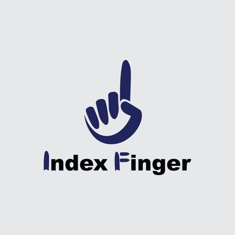 抽象矢量手指标志设计
