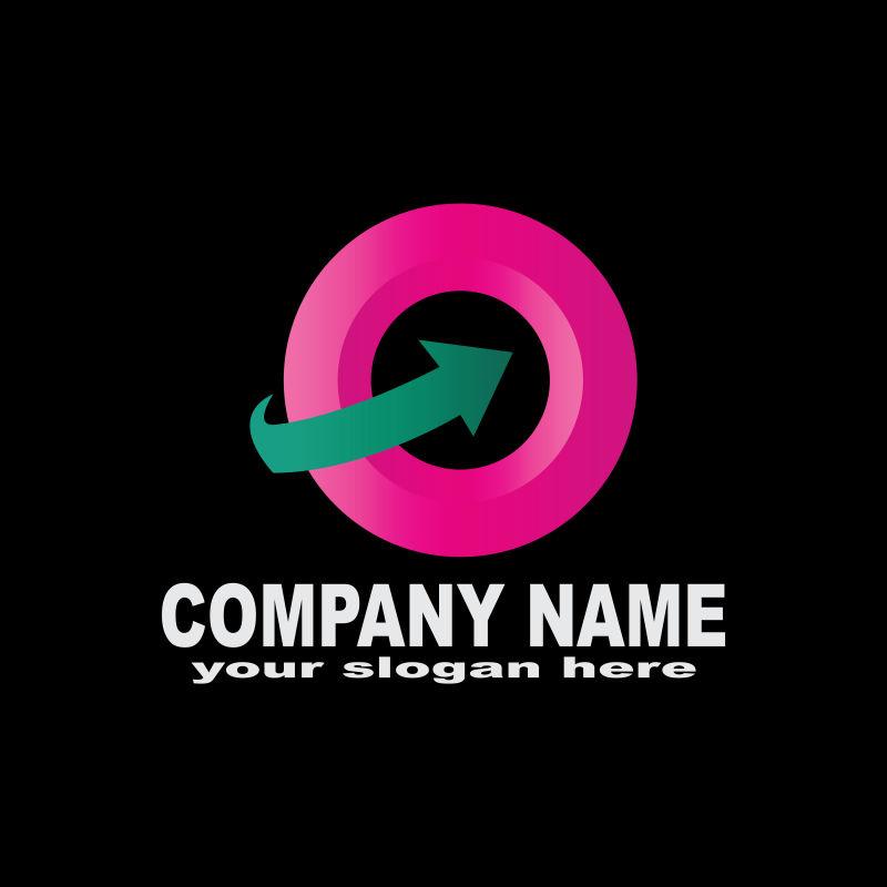 矢量抽象现代商业粉色标志设计
