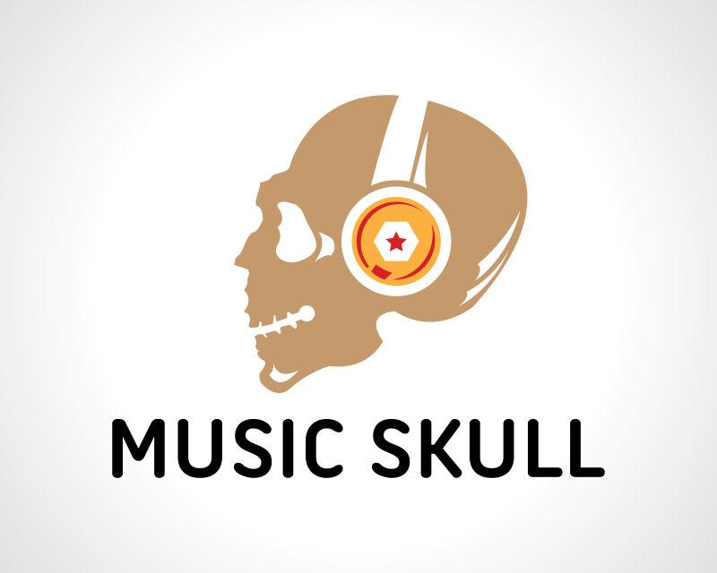 抽象矢量音乐标志设计