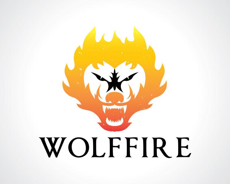 创意矢量狼的标志设计