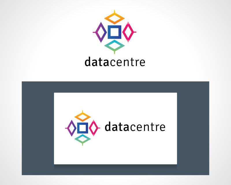 抽象矢量彩色几何数据标志设计
