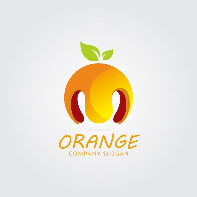 矢量的创意橙子标志