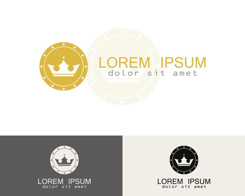 创意矢量皇冠元素标志设计