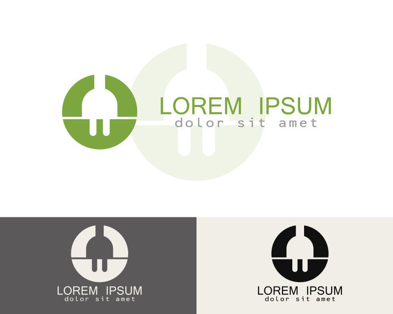 创意矢量电力公司创意标志设计
