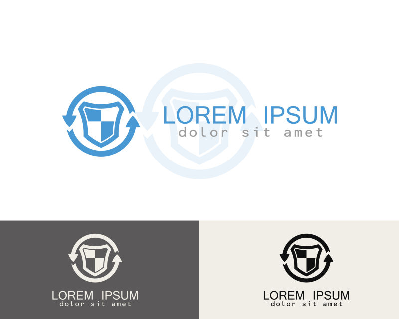 创意矢量现代保险公司标志设计