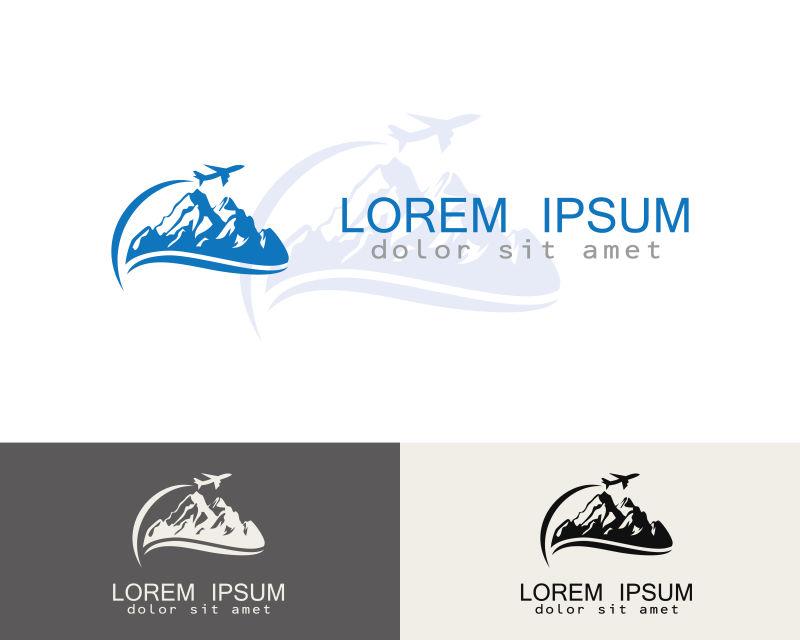 创意矢量现代旅行概念标志设计