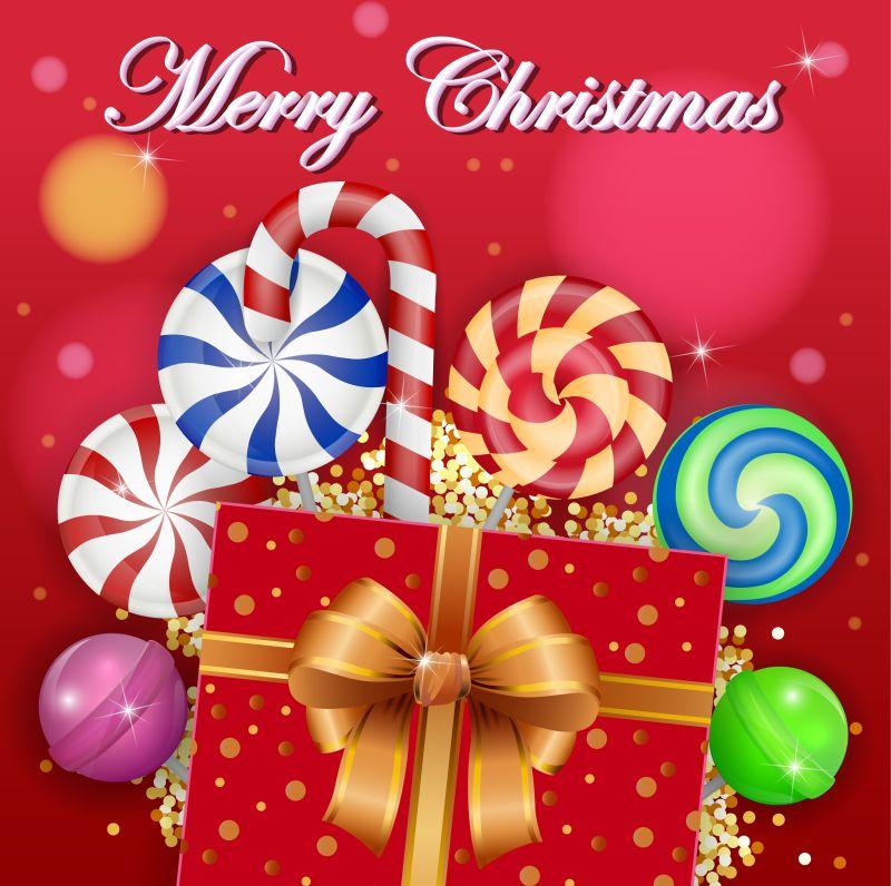 矢量糖果圣诞背景