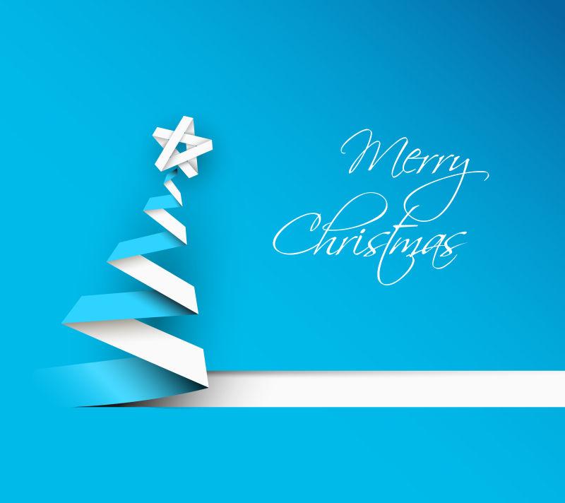 矢量圣诞树新年贺卡