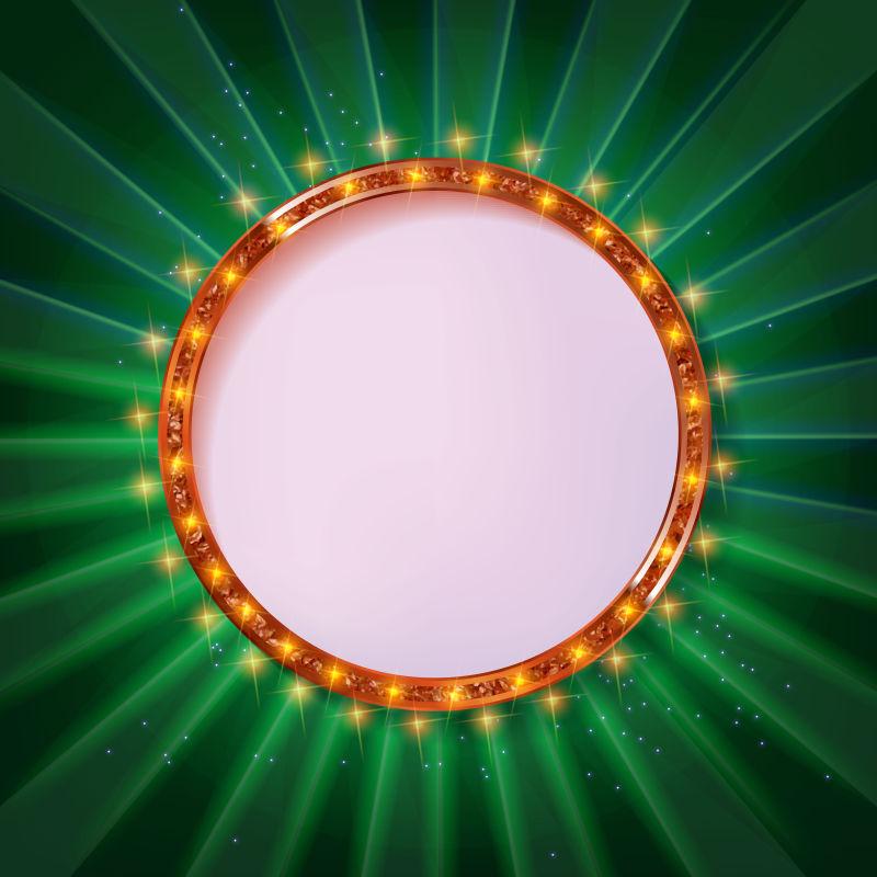 矢量的圆形边框设计