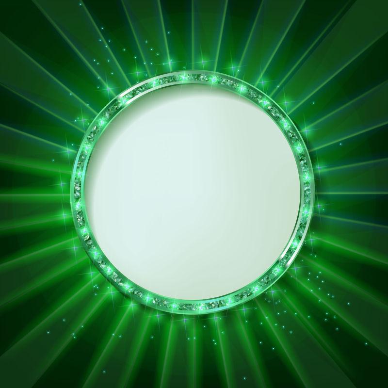 矢量的绿色圆形边框