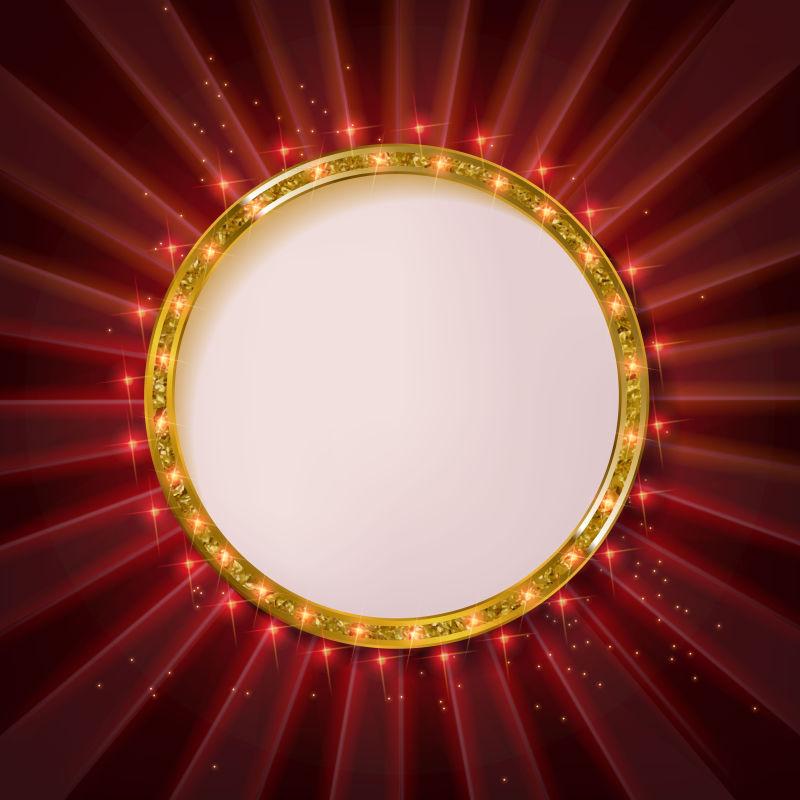 金色圆形边框矢量设计
