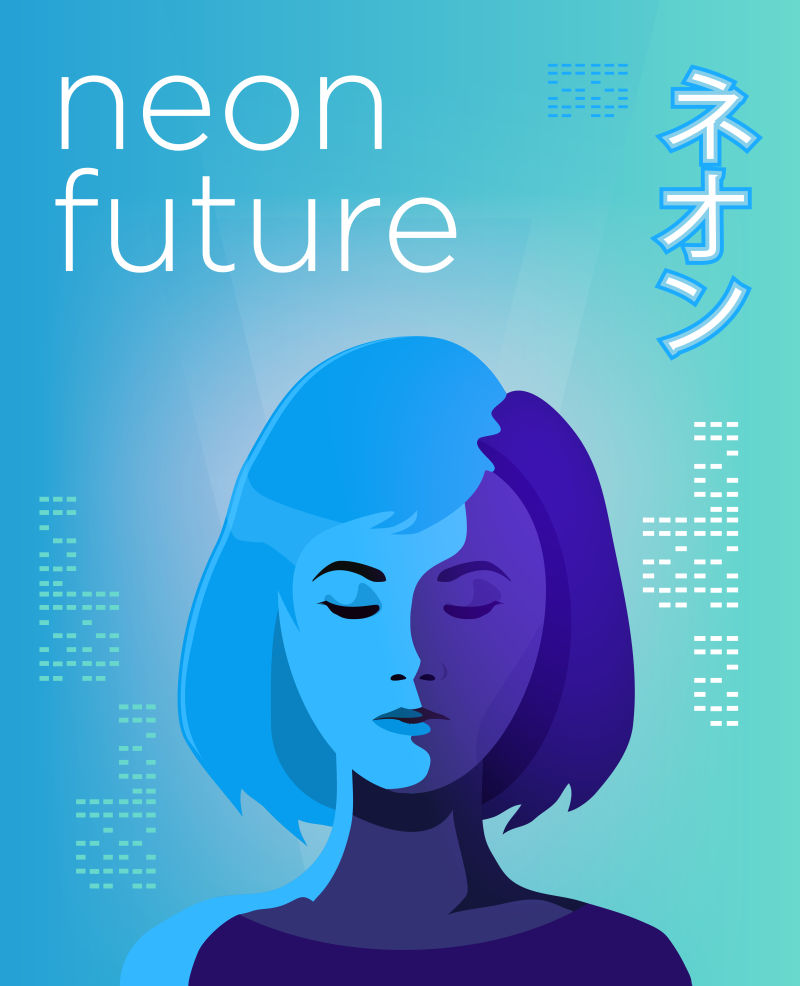 矢量设计年轻女孩海报