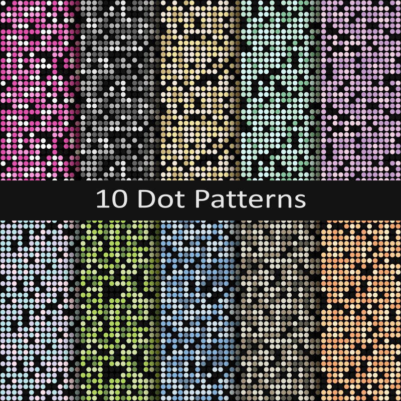 抽象矢量彩色圆形元素无缝背景
