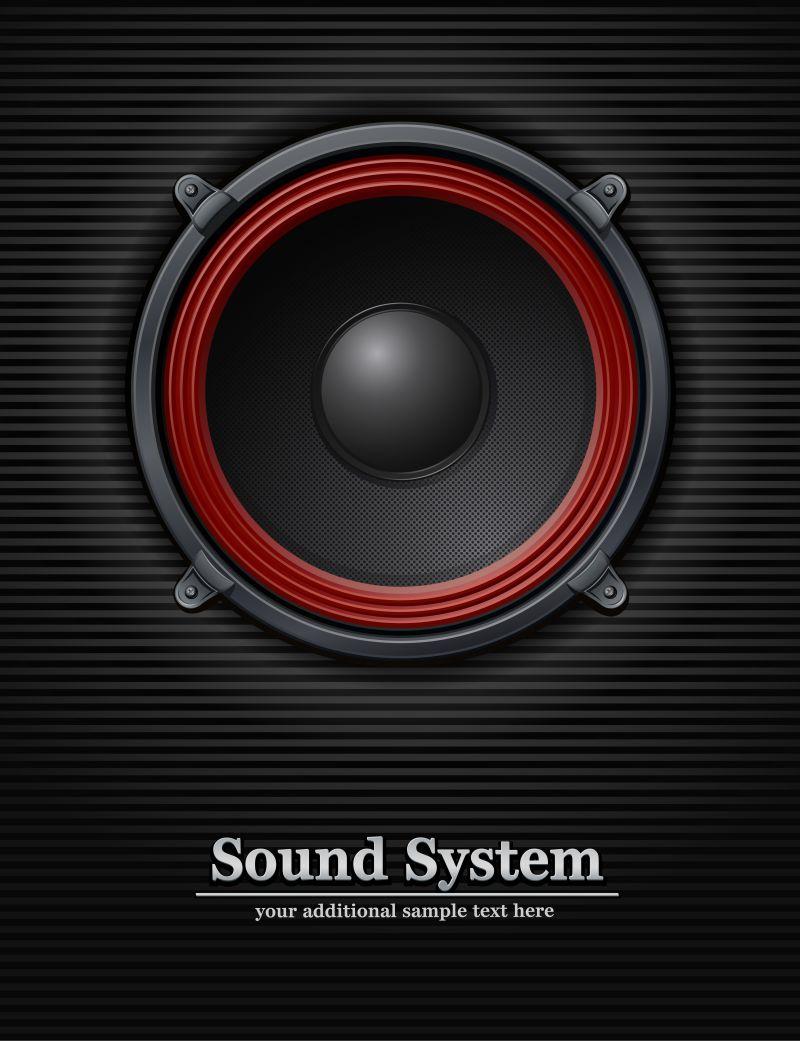 抽象矢量扬声器插图设计