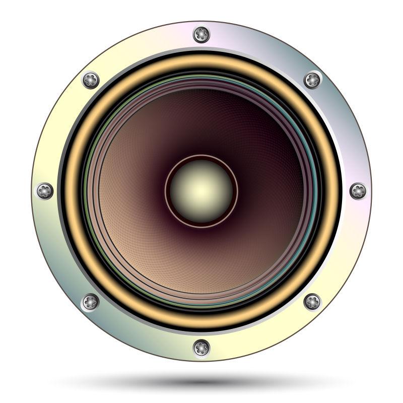 抽象矢量现代音频扬声器插图