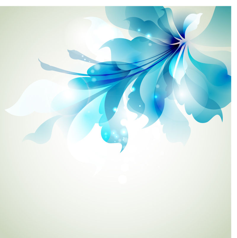 矢量蓝色花卉图案背景设计