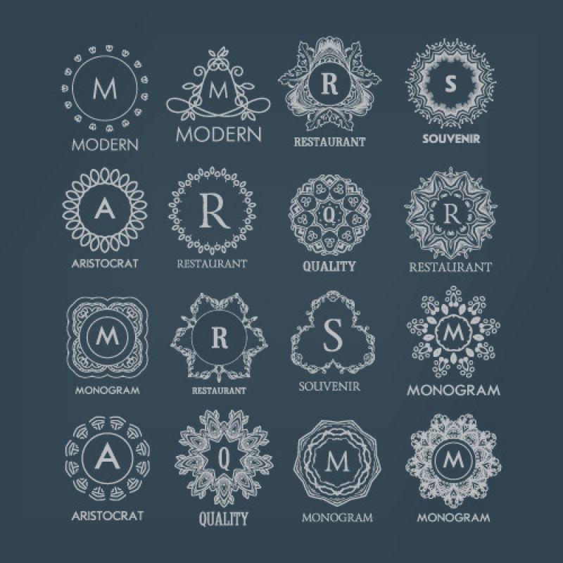 矢量商业豪华装饰的字母logo