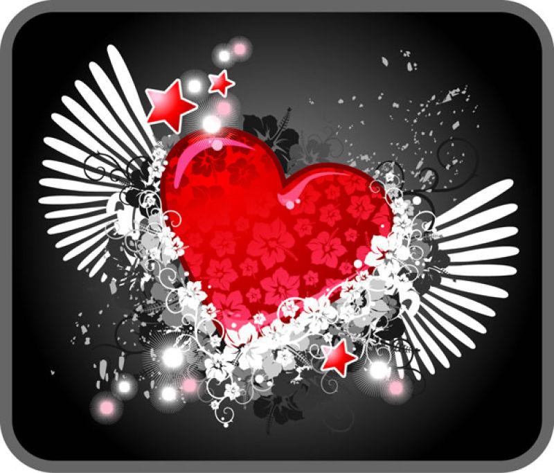 精美的情人节心形图案背景矢量设计