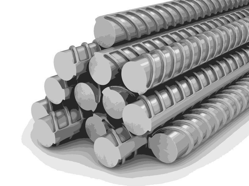 建筑螺纹钢矢量