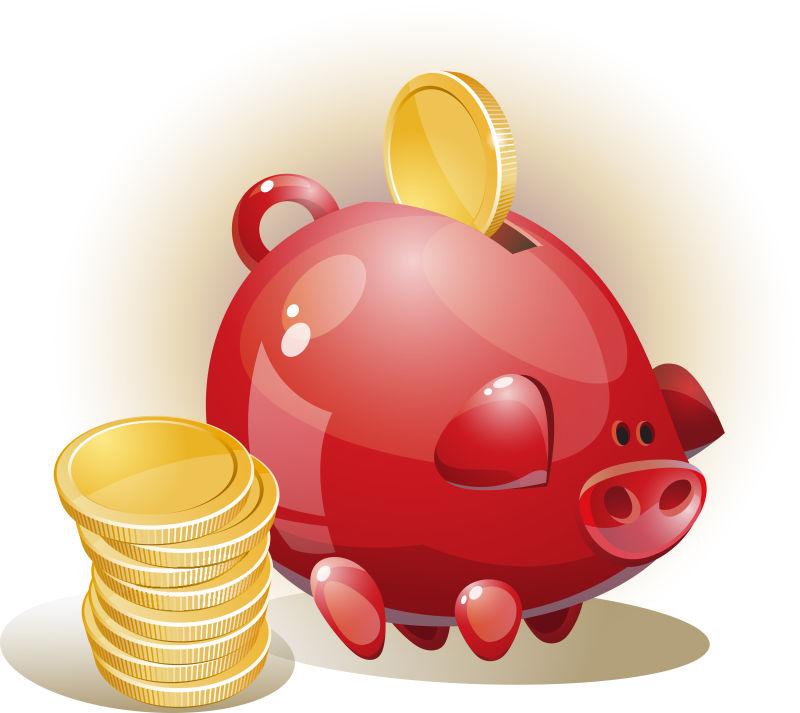 硬币和存钱罐插图