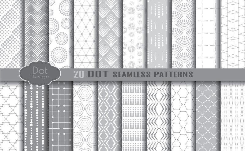 创意矢量灰色现代几何无缝背景