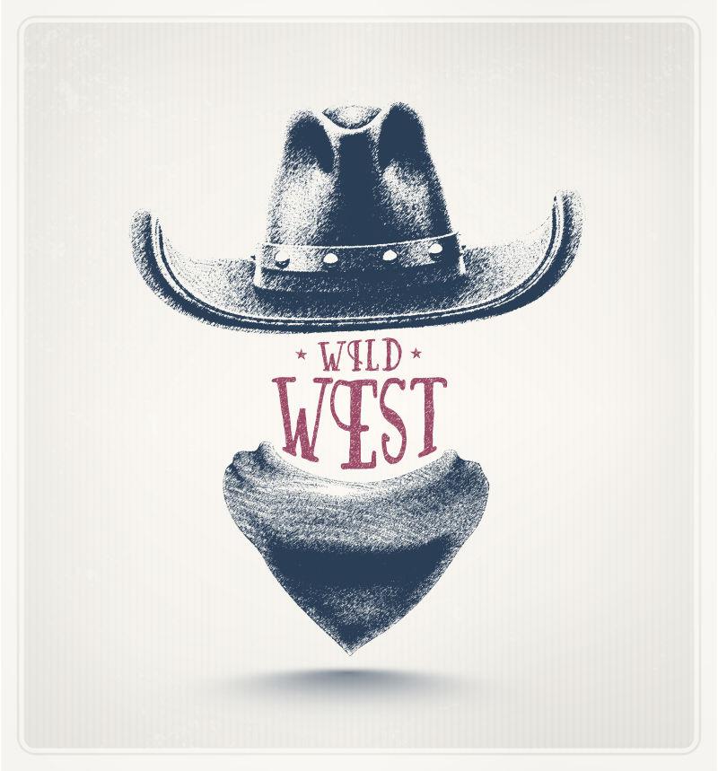 矢量西部牛仔主题的创意海报设计