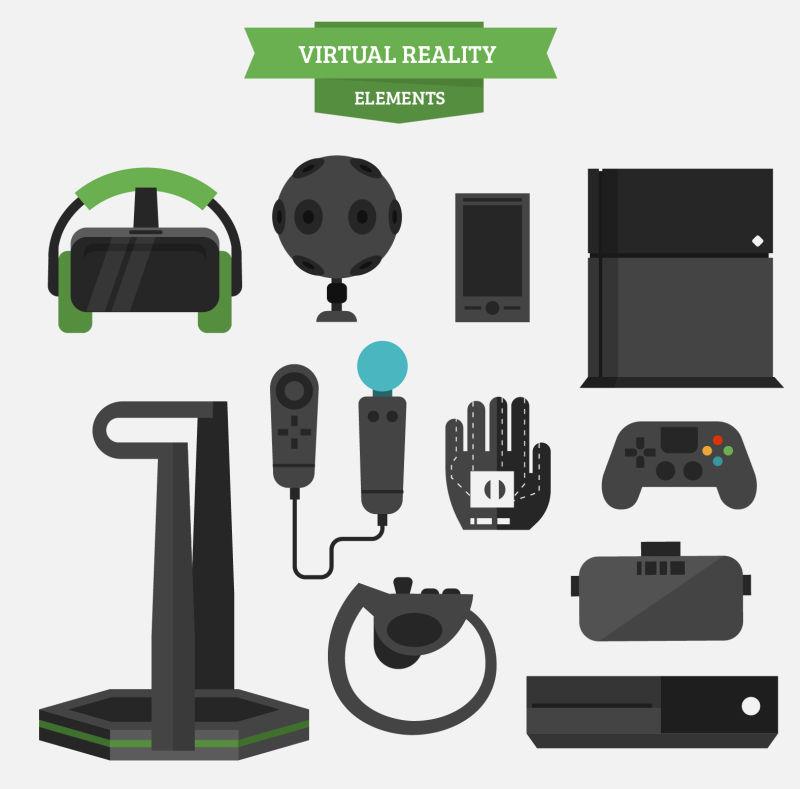 抽象矢量虚拟游戏机设备插图