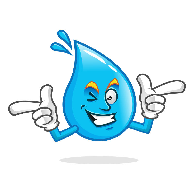 矢量蓝色水滴