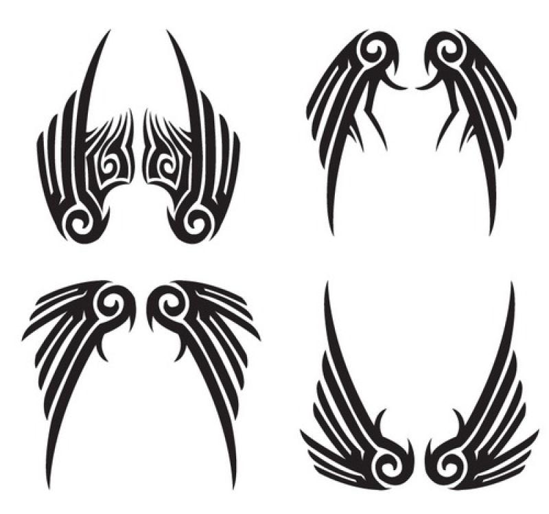 矢量的艺术风格翅膀插图