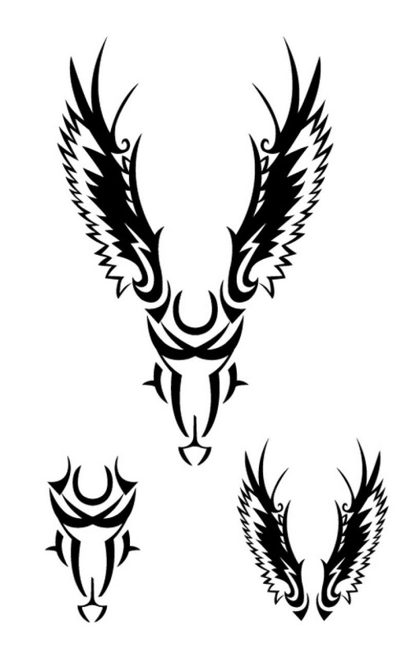 矢量的创意翅膀纹身