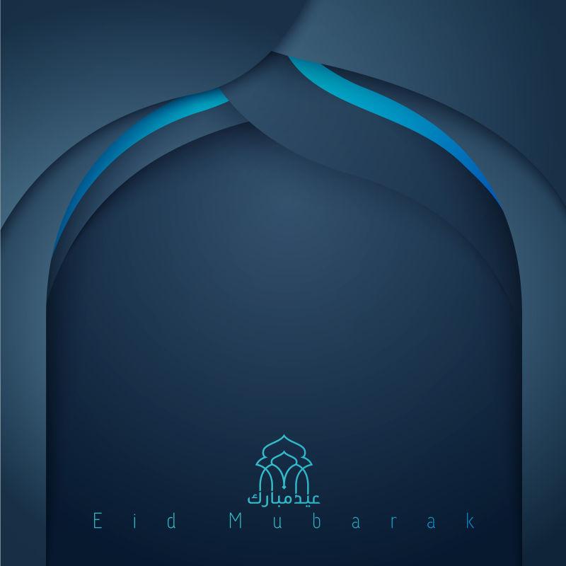 伊斯兰教问候背景设计Eid Mubarak