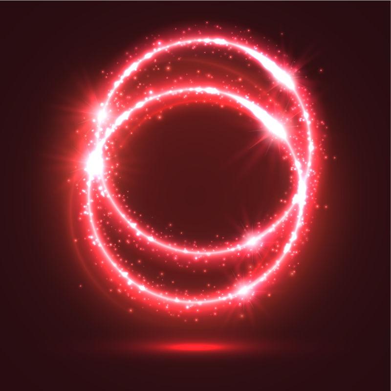 创意矢量红色发光设计元素