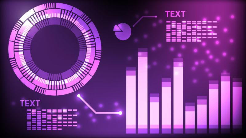 矢量的紫色未来数字界面设计