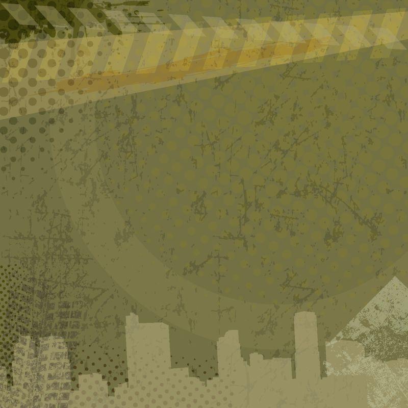 城市垃圾背景-矢量图