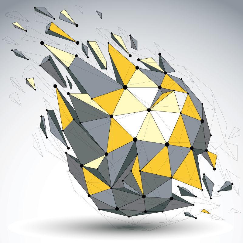 创意矢量几何立体形状设计