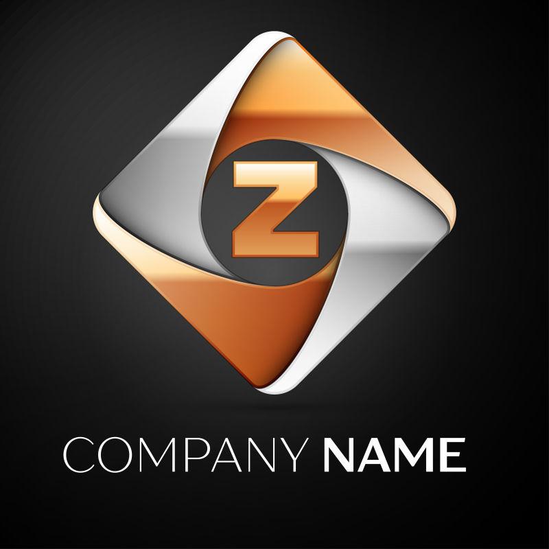 菱形字母Z标志矢量设计