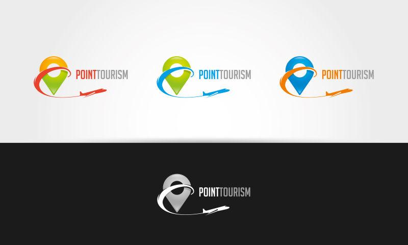 矢量的彩色旅游标志