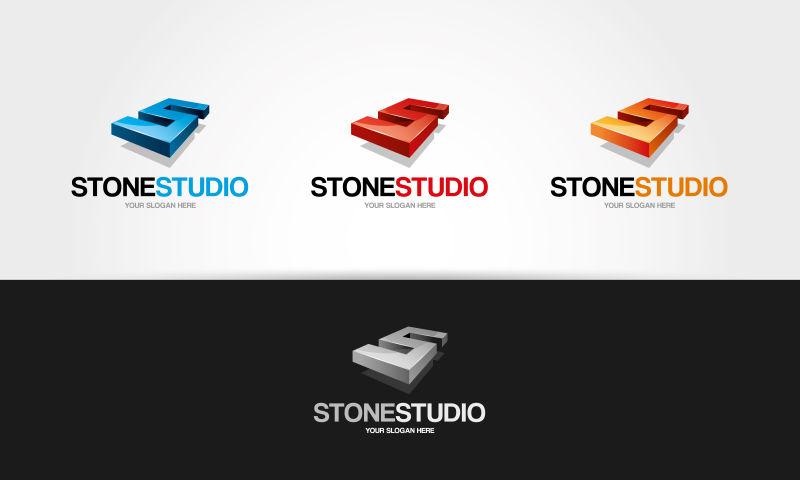 矢量的石材工作室标志