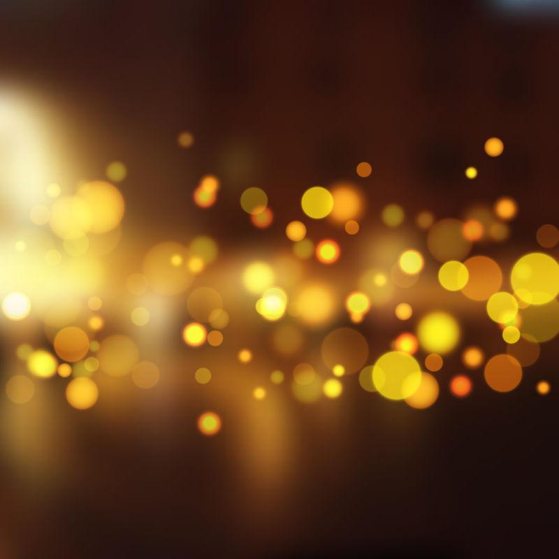 抽象矢量金色光芒设计背景