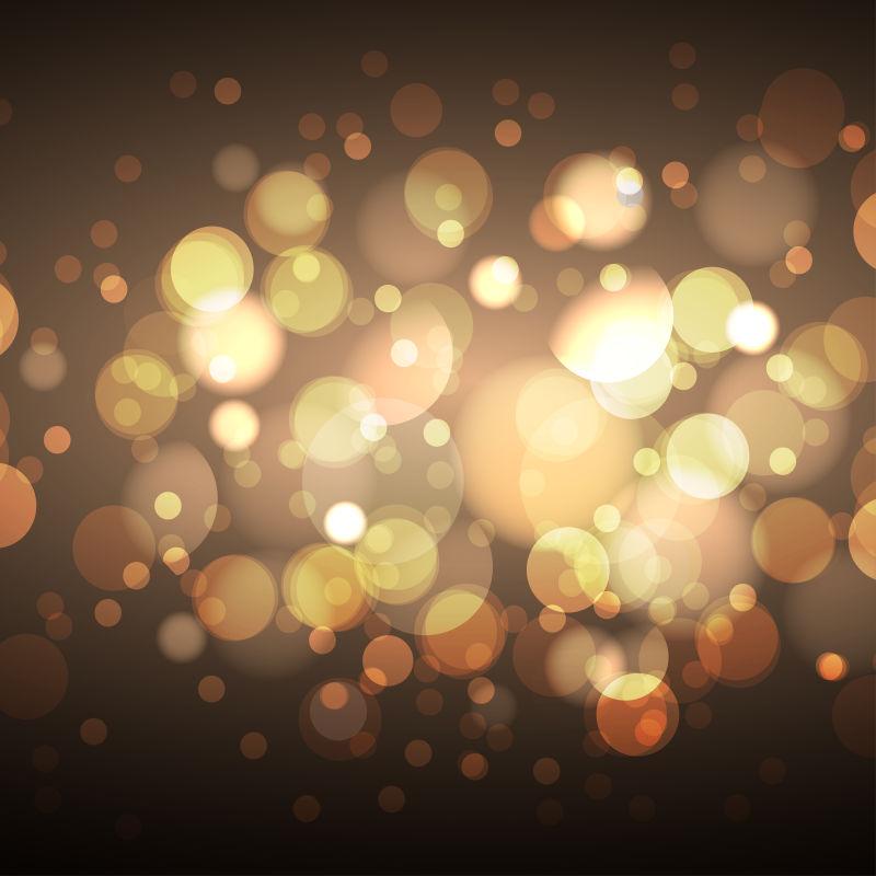 抽象矢量金色光芒背景设计