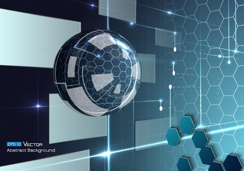 蓝色抽象科技背景矢量设计