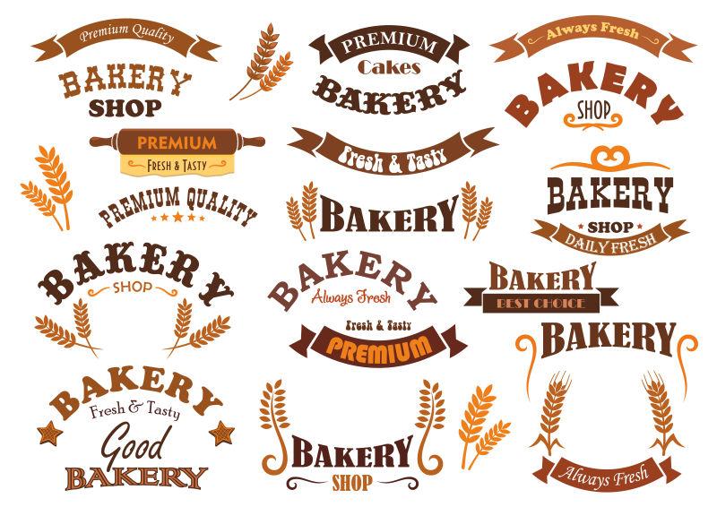 抽象矢量面包工坊的标志设计