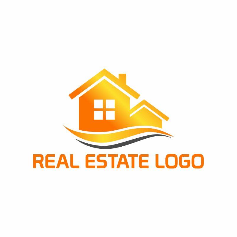 抽象矢量橙色商业标志设计