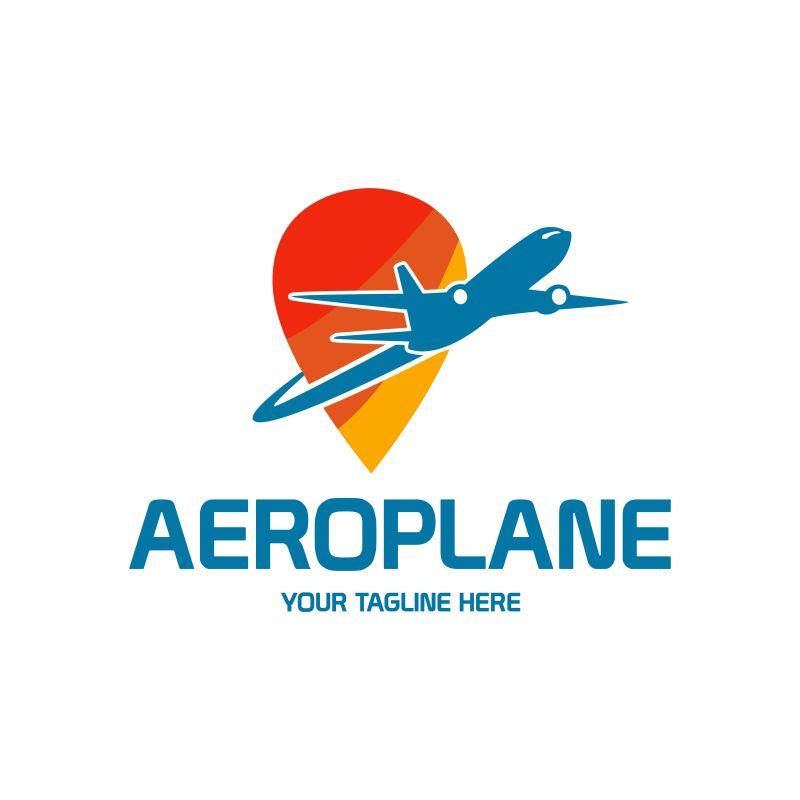 抽象矢量航空公司标志设计