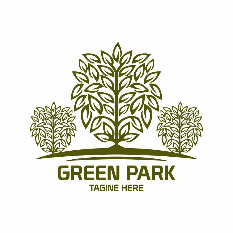 抽象矢量现代公园标志设计